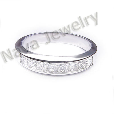 Princess  Diamond Wedding Rings on 00 Ct  Princess Cut Diamond Wedding Band Ring   Ebay