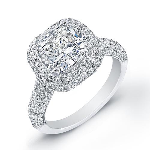 423 CtCushion Cut Diamond Engagement Ring nice center stone square