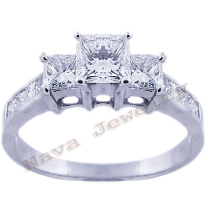 1 95 ct princess cut 3 engagement ring ebay