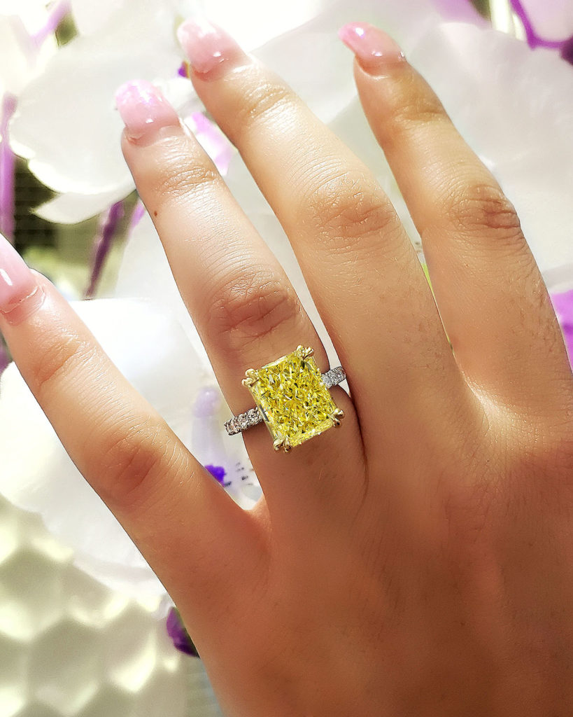 5 Ct. Yellow Canary Diamond Engagement Ring