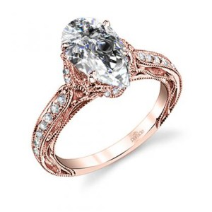 Natural Diamond Oval Cut Parade Design Hera Bridal Scroll