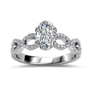 Natural Pave Infinity Diamond Engagement Ring