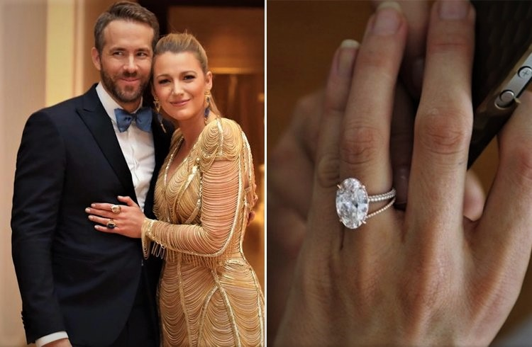 blake lively oval cut diamond engagement ring