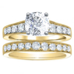 2.46CT. Natural Diamond Cushion Cut Pave w/ Milgrains Enagement Ring Setting 14K Yellow Gold GIA