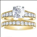 2.46CT. Natural Diamond Cushion Cut Pave w/ Milgrains Enagement Ring Setting 14K Yellow Gold GIA