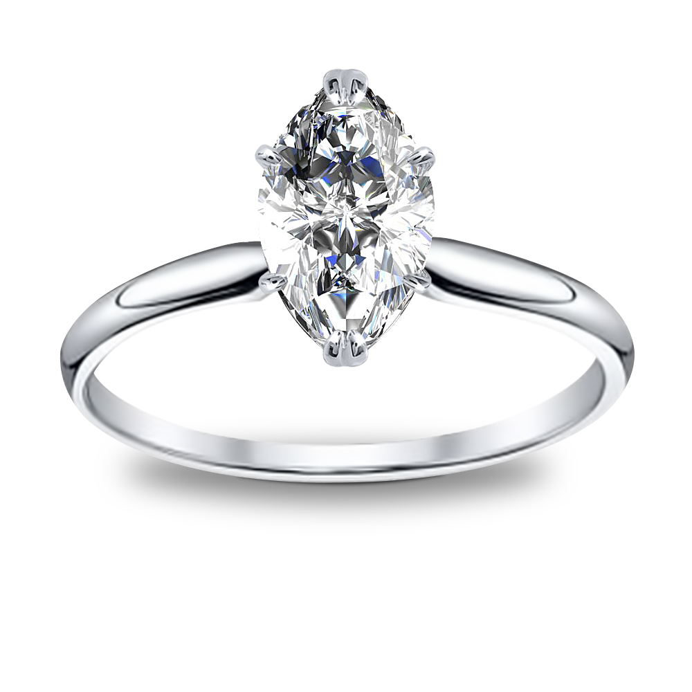 1 Ct. Marquise Cut Natural Diamond Solitaire Diamond Engagement Ring (GIA Certified)