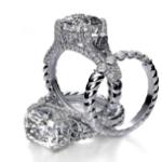 2.9CT Natural Diamond Cushion Cut Celtic Knot Pave Split Shank Rope Design Engagement Rink 18K Platinum GIA