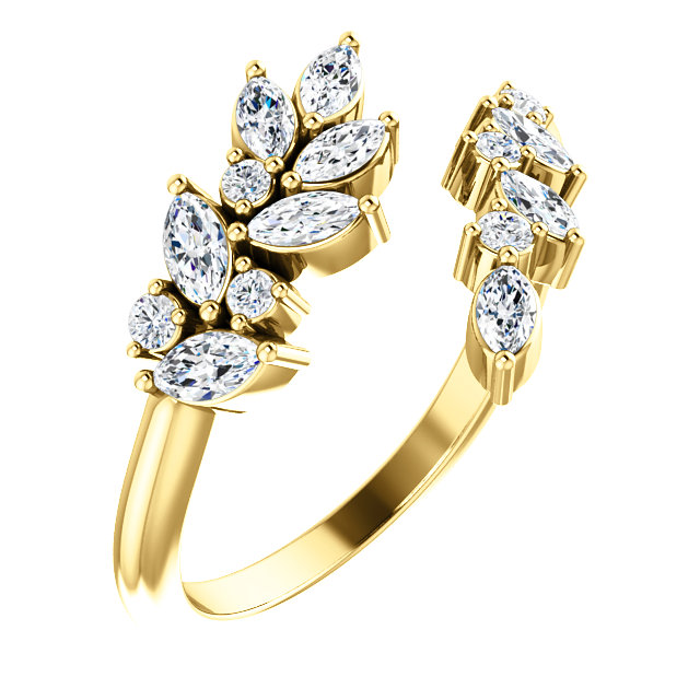 Queens Wreath Marquise Diamond Ring