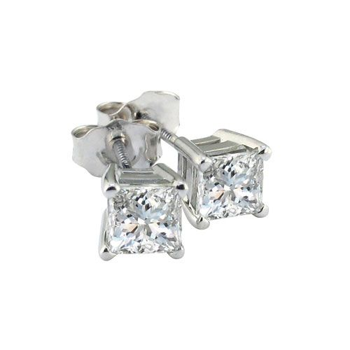 1 ct princess cut earrings 1 ct princess cut stud earrings platinum i vs1 ebay 6230