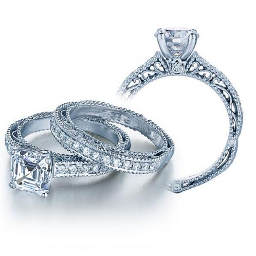 Designer Verragio Venetian Diamond Vintage Engagement Ring