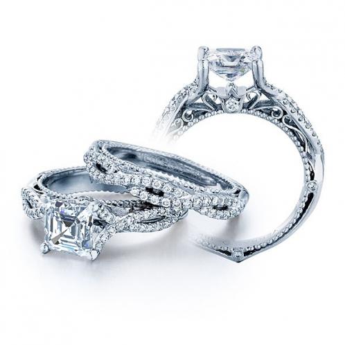 Antique Verragio Infinity Venetian Pave Engagement Ring