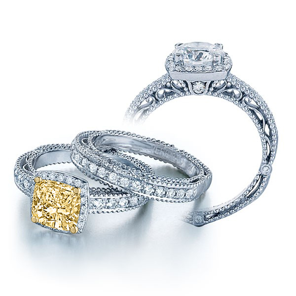 Verragio Halo Antique Infinity Venetian Pave Engagement Ring