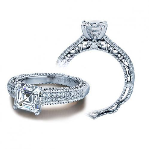 Venetian Double Pave Verragio Diamond Engagement Ring