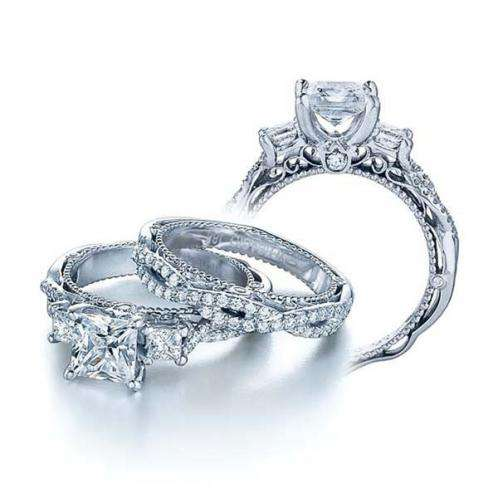 Verragio Three Stone Set Venetian Engagement Ring