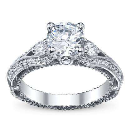 Trendy Three Stone Engagement Rings