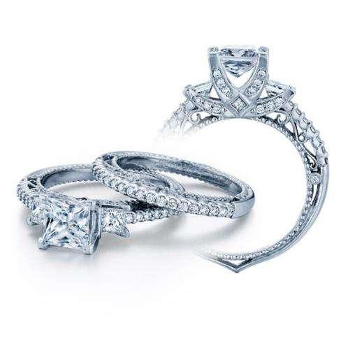 3-Stone Verragio Designer Venetian Diamond Engagement Ring