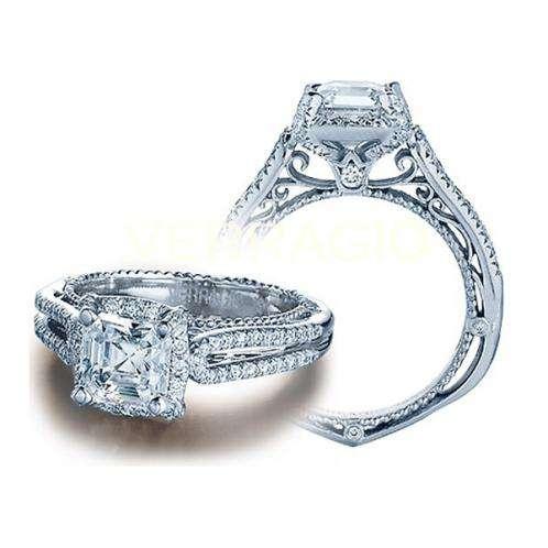 Halo Pave Venetian Verragio Designer Diamond Engagement Ring