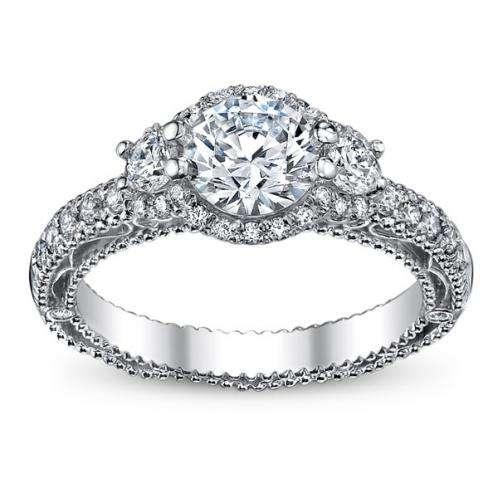 Venetian Verragio 3-Stone Designer Diamond Engagement Ring