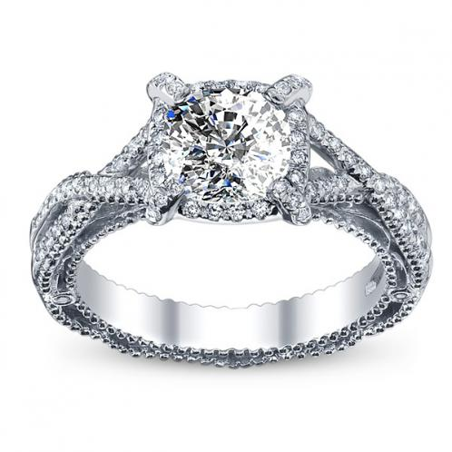 Verragio Infinity Designer Pave Diamond Engagement Ring