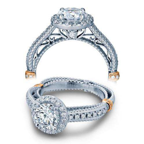 Designer Verragio Filigree Diamond Engagement Ring