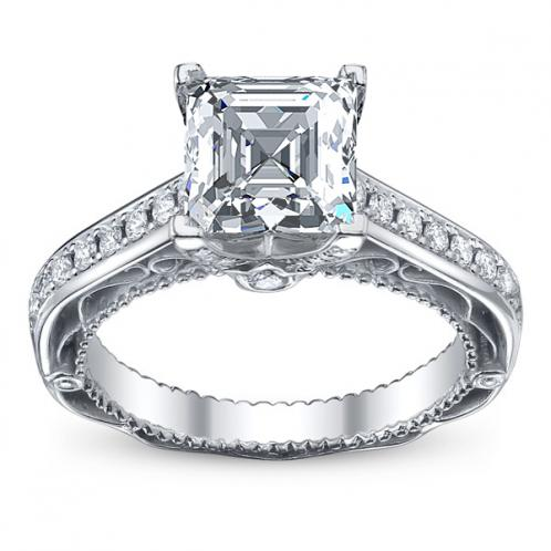 Verragio Pave Vintage Venetian Diamond Engagement Ring