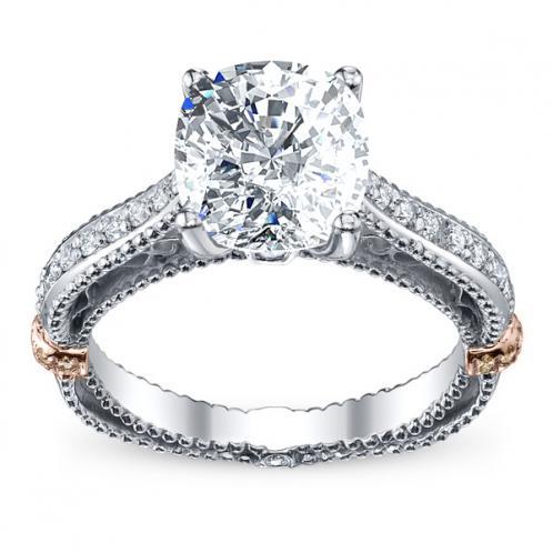 Designer Engagement Diamond Verragio Pave Vintage Ring