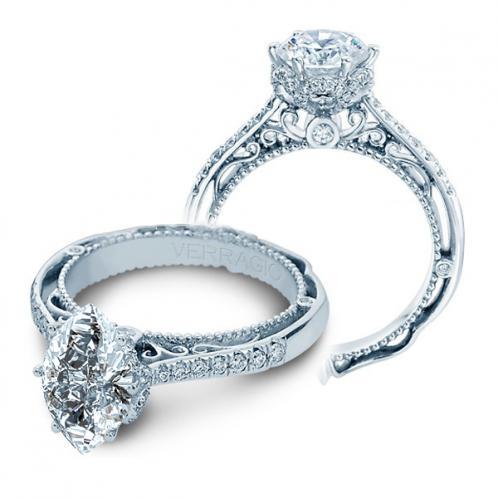 Designer Verragio Cathedral Vintage Diamond Engagement Ring