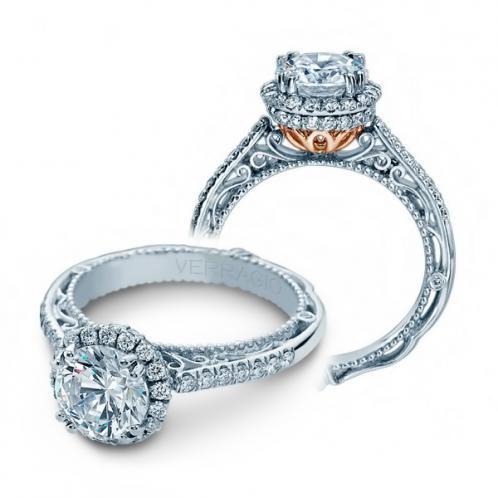 Halo Verragio Venetian Designer Natural Diamond Engagement Ring