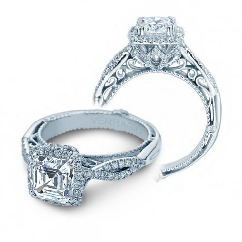 Verragio Infinity Halo Pave Designer Natural Diamond Engagement Ring
