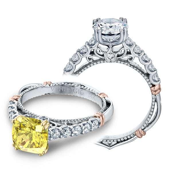 Verragio Parisian Pave U-Prong Designer  Engagement Ring