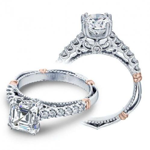 Verragio Parisian Pave Rose Gold Accent Designer Engagement Ring