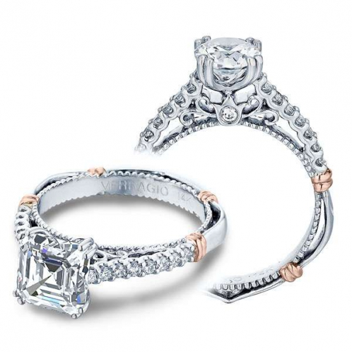 Verragio Parisian U-Prong Pave Designer Engagement Ring