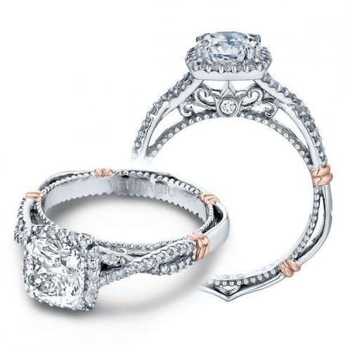 Verragio Parisian Halo Pave Infinity Designer Engagement Ring