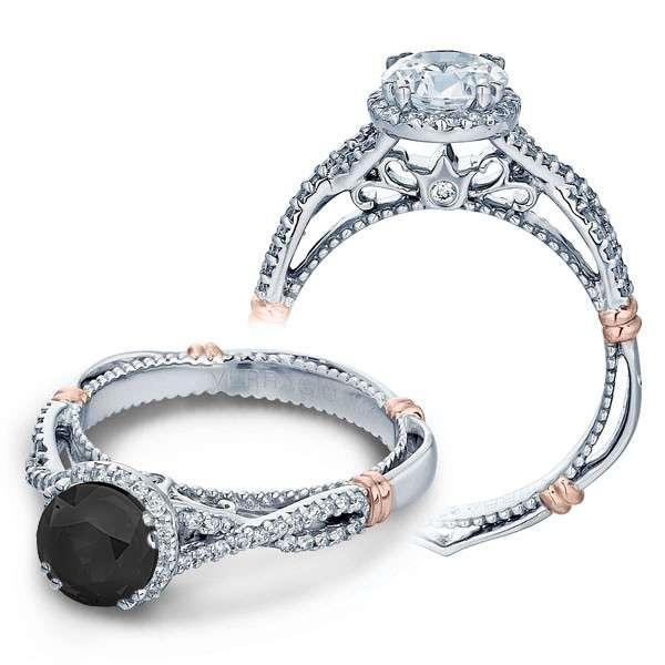 Verragio Parisian Pave Halo Infinity Filigree Designer Engagement Ring