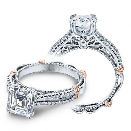 Verragio Parisian Pave Split Shank Designer Engagement Ring
