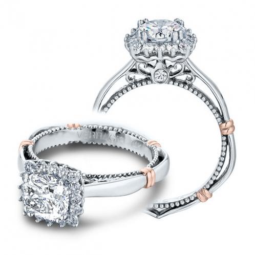 Verragio Parisian Accent Pave Halo Designer Engagement Ring