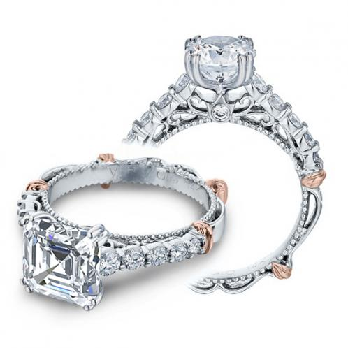 Verragio Parisian Prong Pave Accent Designer Engagement Ring