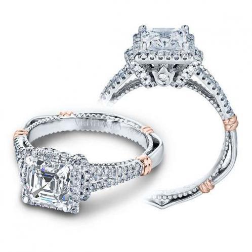 Verragio Parisian Halo Pave Side Profile Designer Engagement Ring