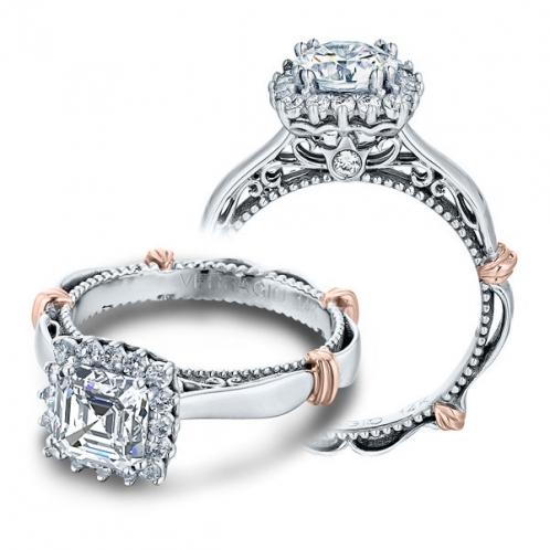 Verragio Parisian Filigree Halo Designer Engagement Ring