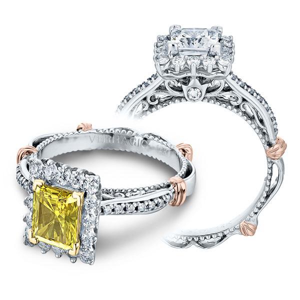 Verragio Parisian Pave Halo Prong Designer Engagement Ring