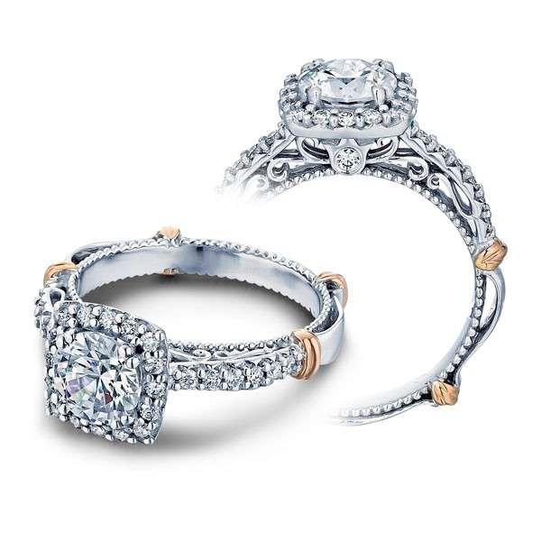 Verragio Parisian Halo Filigree Designer Engagement Ring