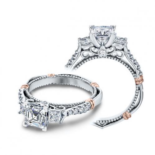 Verragio Parisian Three Stone Bar Set Designer Engagement Ring