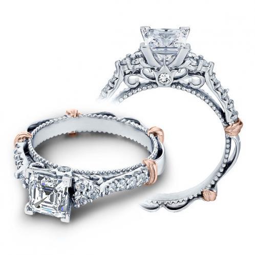 Verragio Parisian Cluster Pave Filigree Designer Engagement Ring
