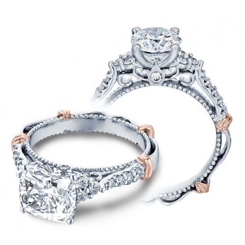 Verragio Parisian Cluster Pave Designer Engagement Ring