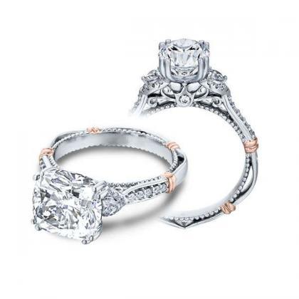 Pattern Cushion cut Engagement Rings
