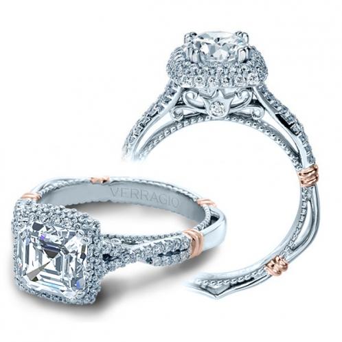 Verragio Parisian Halo Micro Pave Designer Engagement Ring