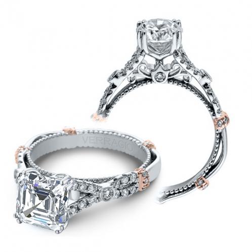 Verragio Parisian Split Shank Pave Designer Engagement Ring