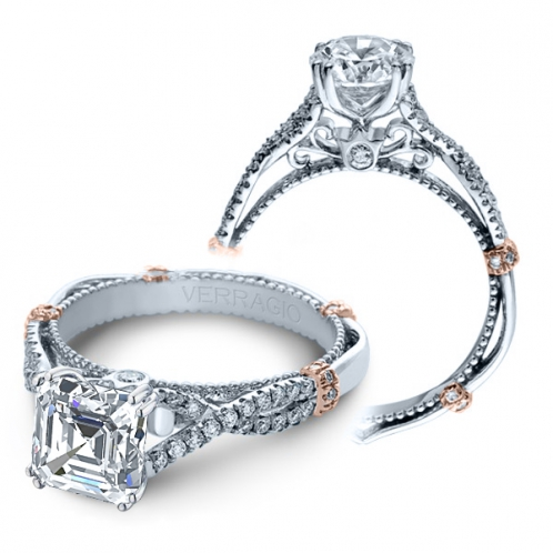 Verragio Parisian Infinity Split Shank Designer Engagement Ring
