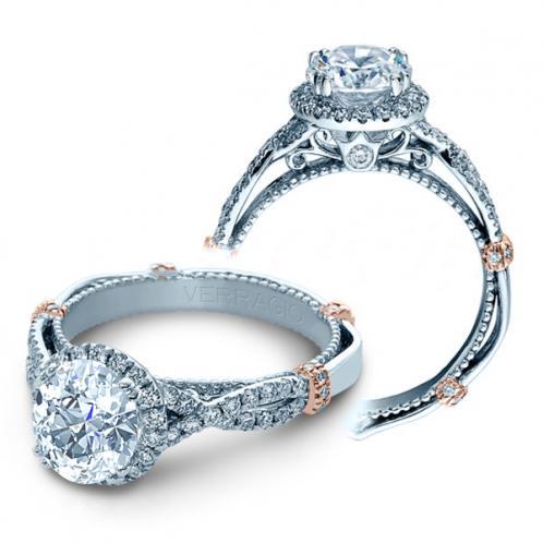 Verragio Parisian Halo Infinity Split Shank Designer Engagement Ring