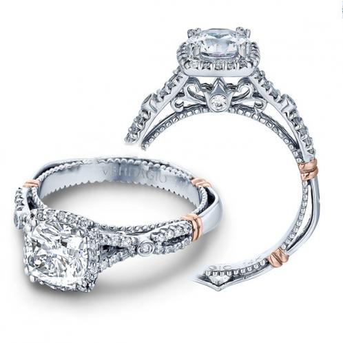 Verragio Parisian Infinity Split Shank Halo Designer Engagement Ring